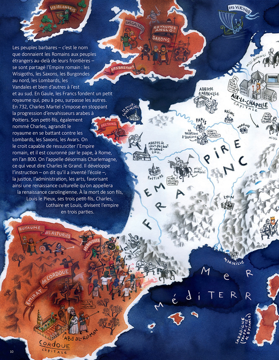 Extrait n°4 de la bd Le Moyen Âge par Florent Chavouet