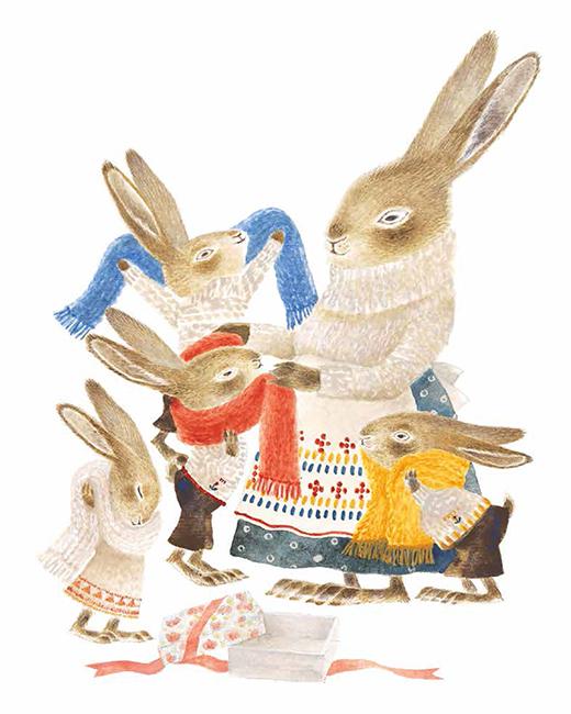 Extrait n°2 du manga Les Quatre lapins et les écharpes fantastiques par Mutsuko Watari