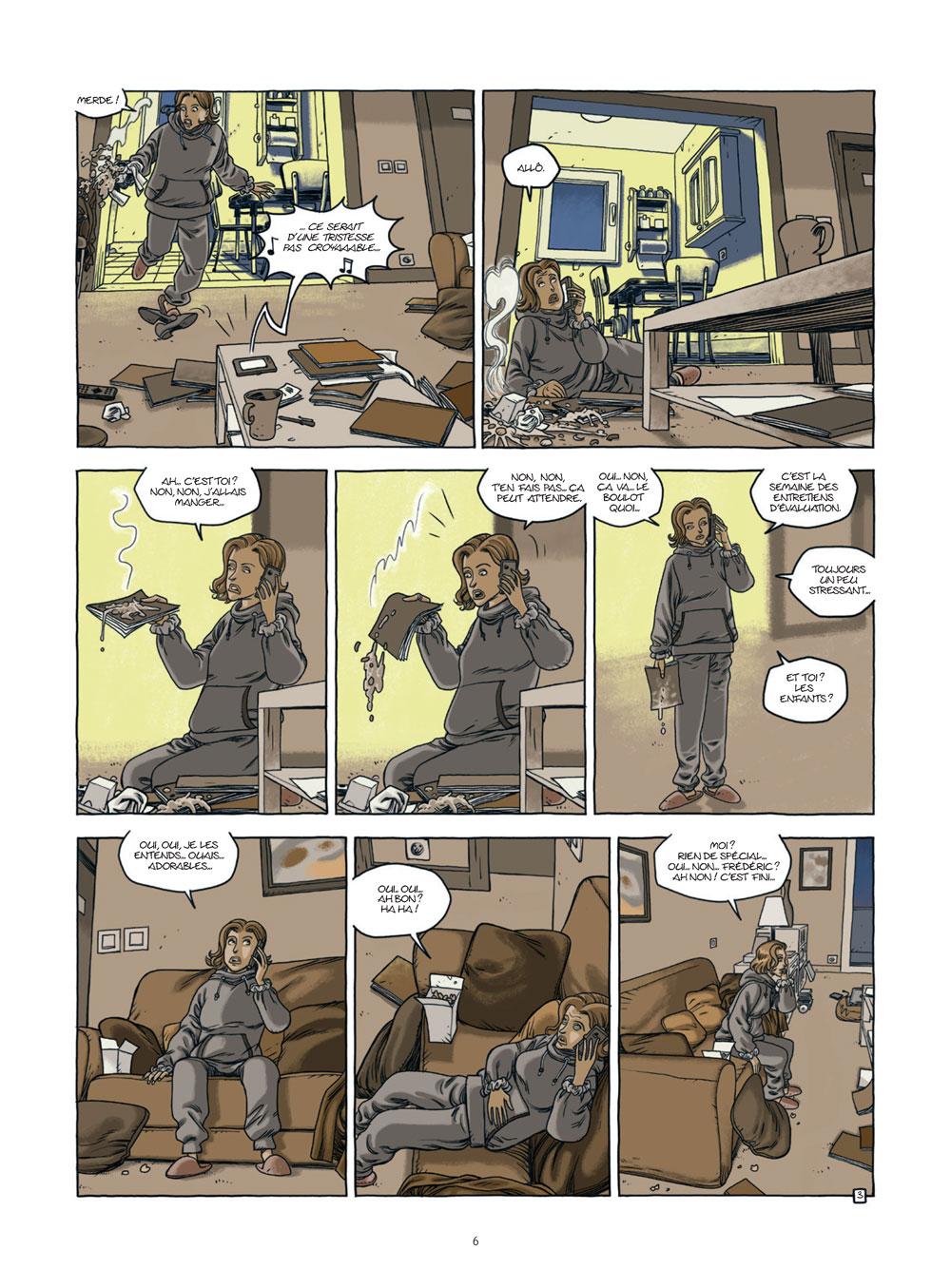 Extrait n°4 de la bd Nos vies prisonnières par Philippe Castaza