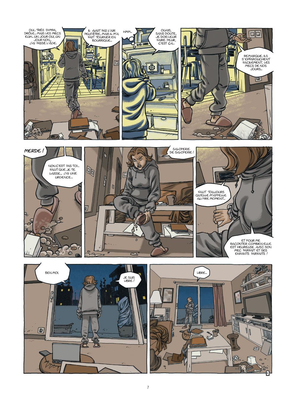 Extrait n°5 de la bd Nos vies prisonnières par Philippe Castaza
