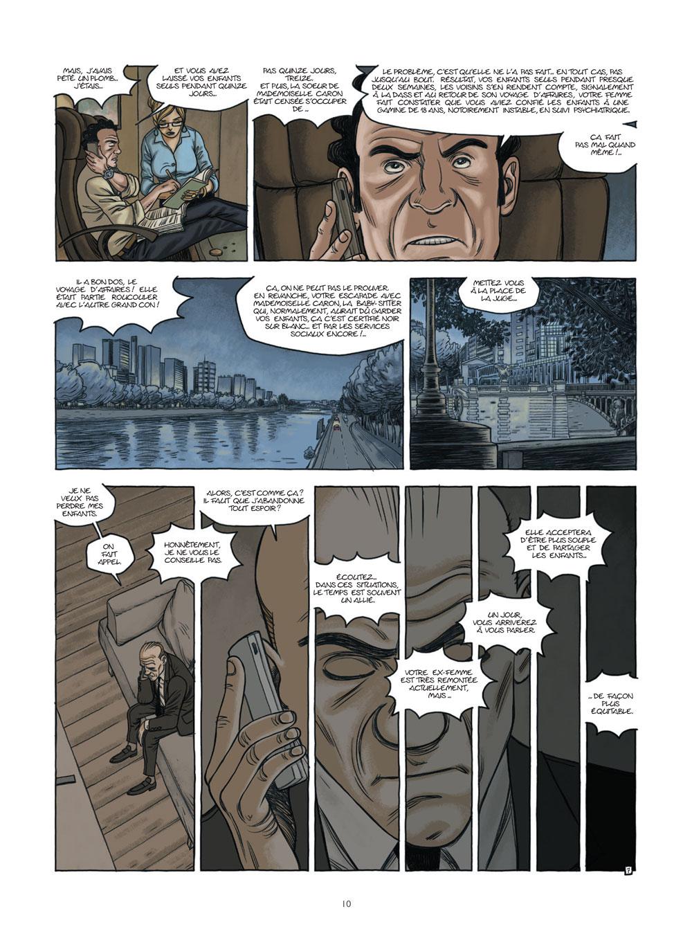 Extrait n°8 de la bd Nos vies prisonnières par Philippe Castaza