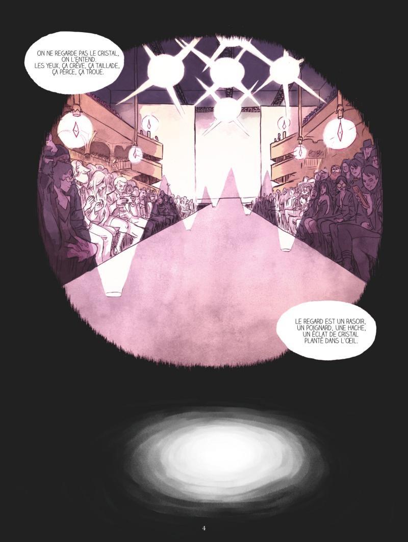 Extrait n°1 de la bd La Mort aux yeux de cristal par Lancelot Hamelin
