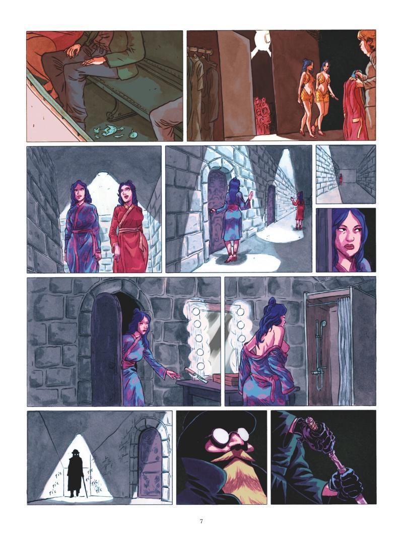 Extrait n°4 de la bd La Mort aux yeux de cristal par Lancelot Hamelin