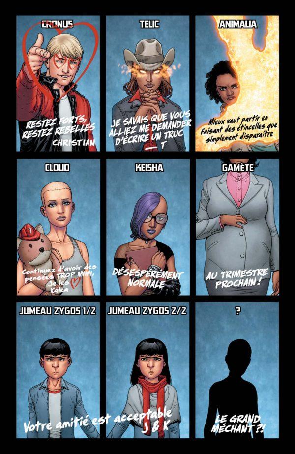 Extrait n°2 du comics Génération Zéro par Fred Van Lente