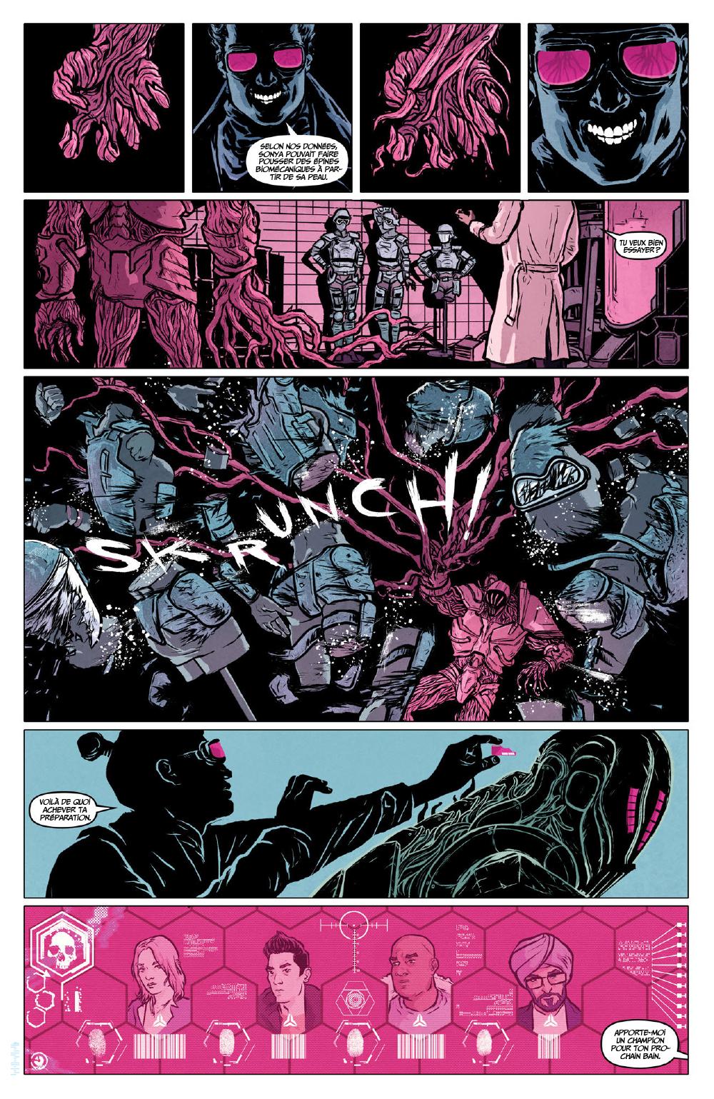 Extrait n°2 du comics Secret Weapons par Raul Allen