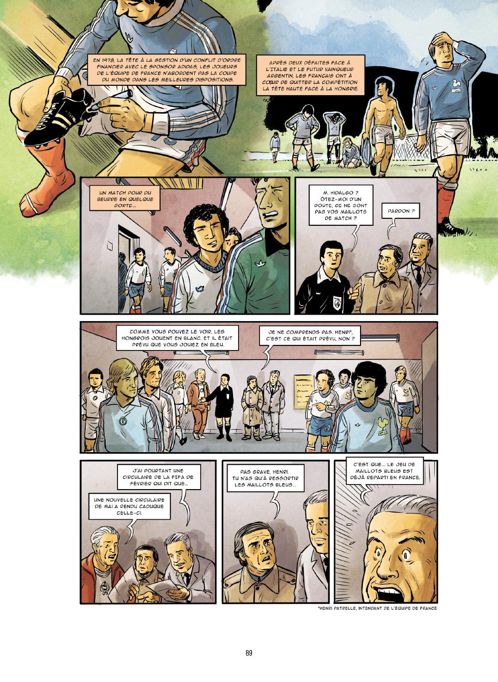 Extrait n°2 de la bd Histoires incroyables de la Coupe du Monde par Collectif d'illustrateurs