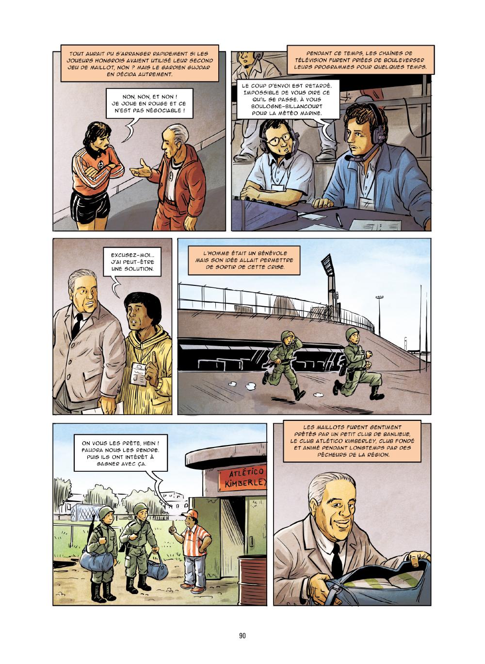 Extrait n°3 de la bd Histoires incroyables de la Coupe du Monde par Collectif d'illustrateurs
