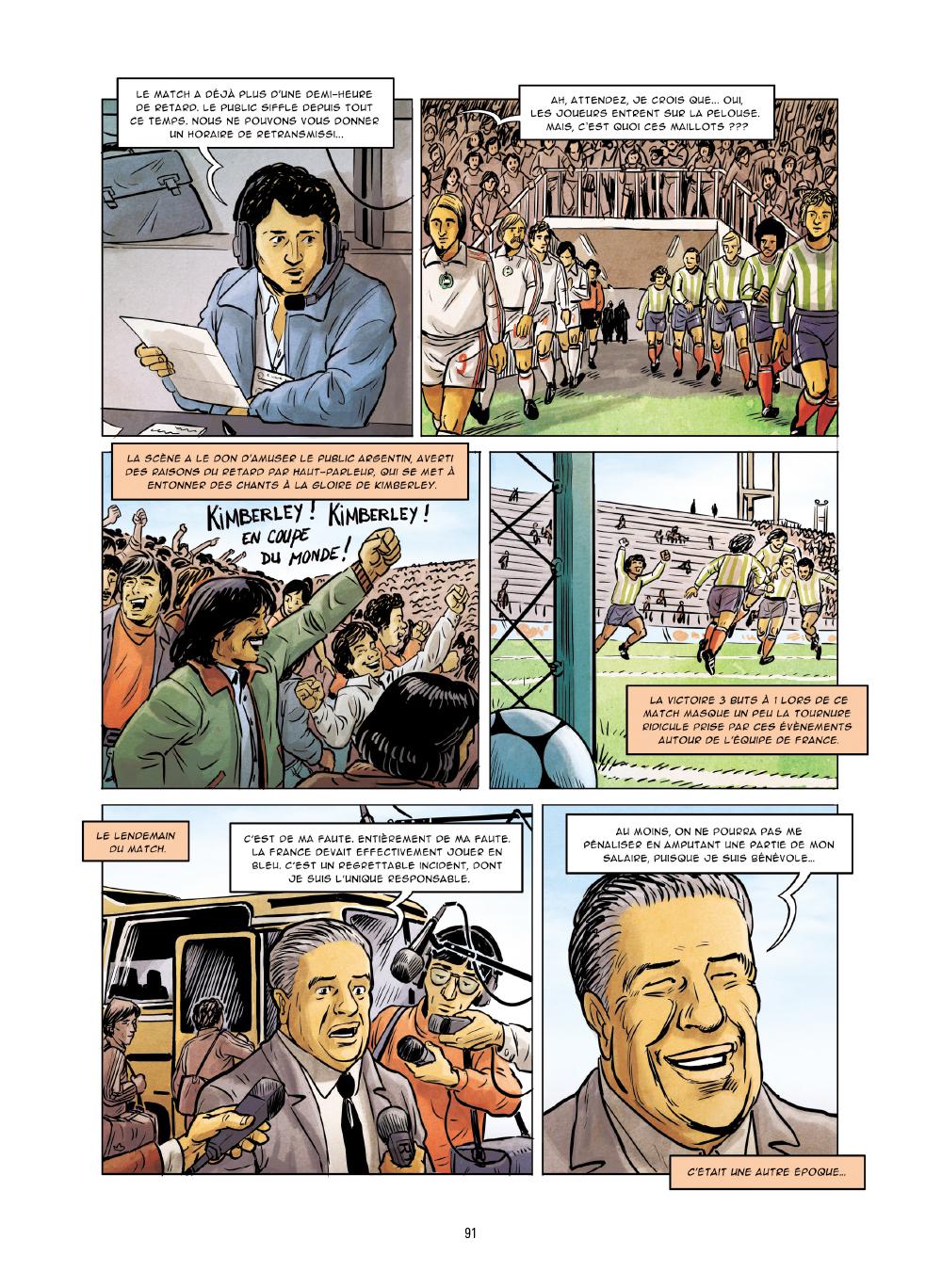 Extrait n°4 de la bd Histoires incroyables de la Coupe du Monde par Collectif d'illustrateurs