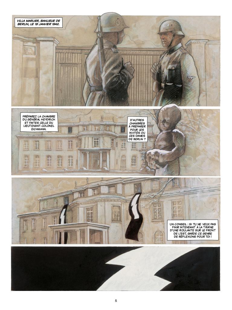 Extrait n°1 de la bd Wannsee par Fabrice Le Hénanff