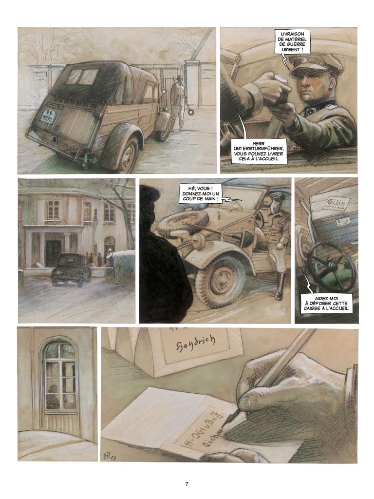 Extrait n°3 de la bd Wannsee par Fabrice Le Hénanff