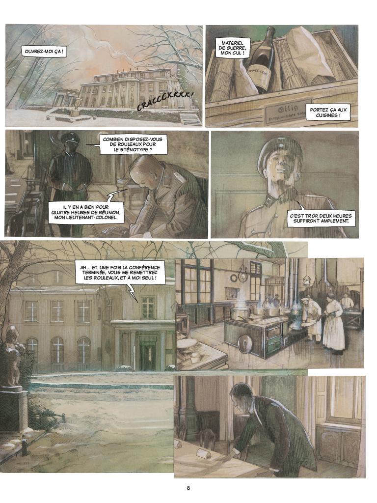 Extrait n°4 de la bd Wannsee par Fabrice Le Hénanff