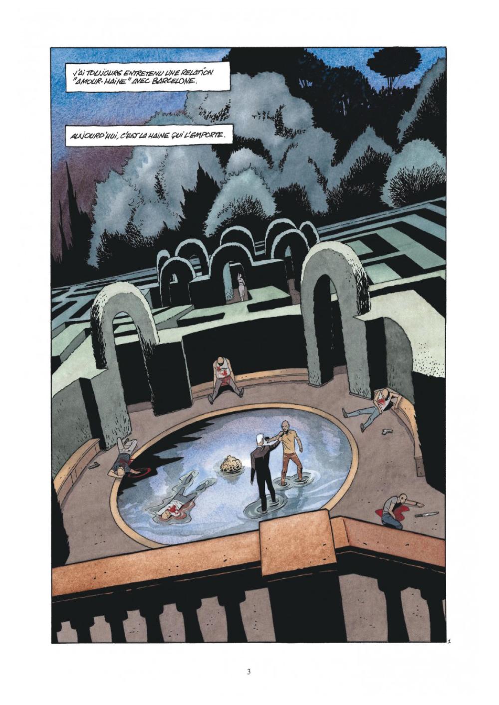 Extrait n°1 de la bd L'Art de mourir par Philippe Raule