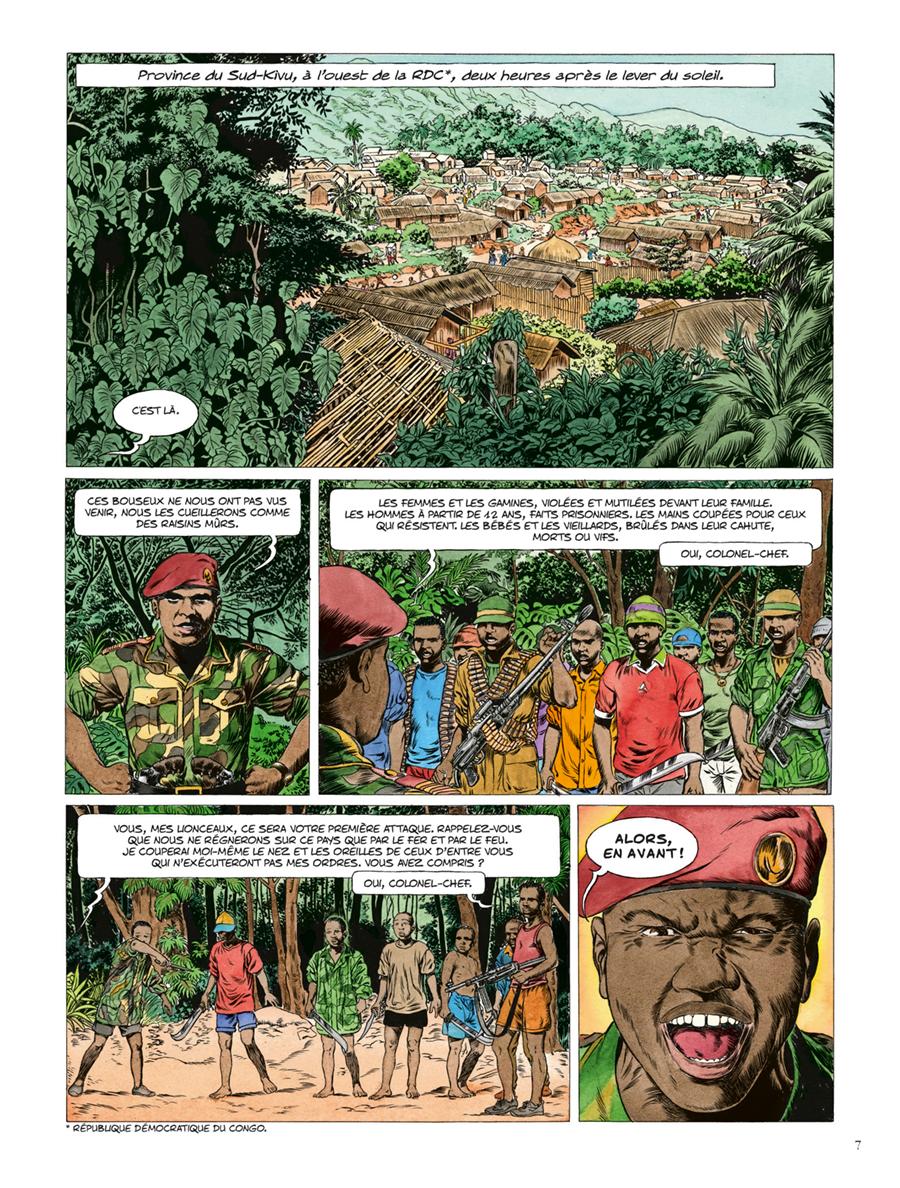 Extrait n°1 de la bd Kivu par Jean Van Hamme