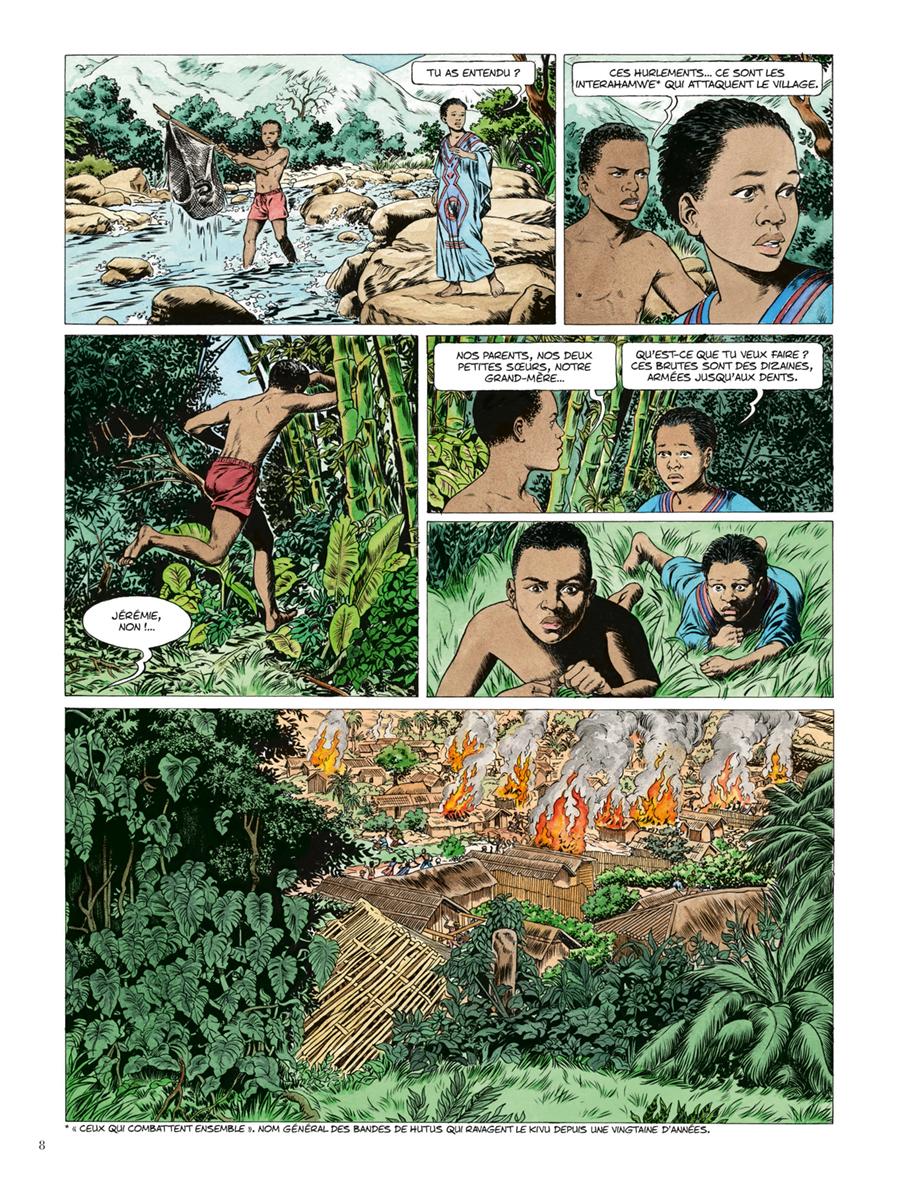 Extrait n°2 de la bd Kivu par Jean Van Hamme