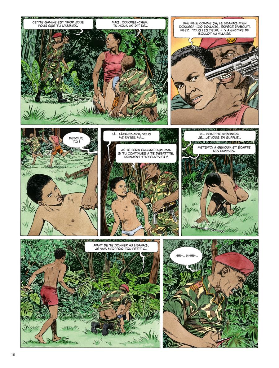 Extrait n°4 de la bd Kivu par Jean Van Hamme