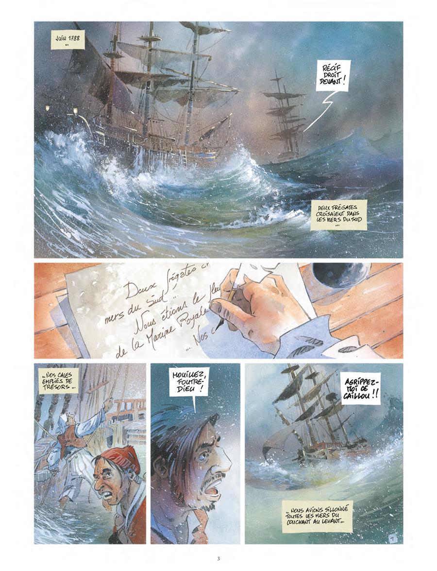 Extrait n°1 de la bd Vanikoro, le mystère Lapérouse  par Patrick Prugne