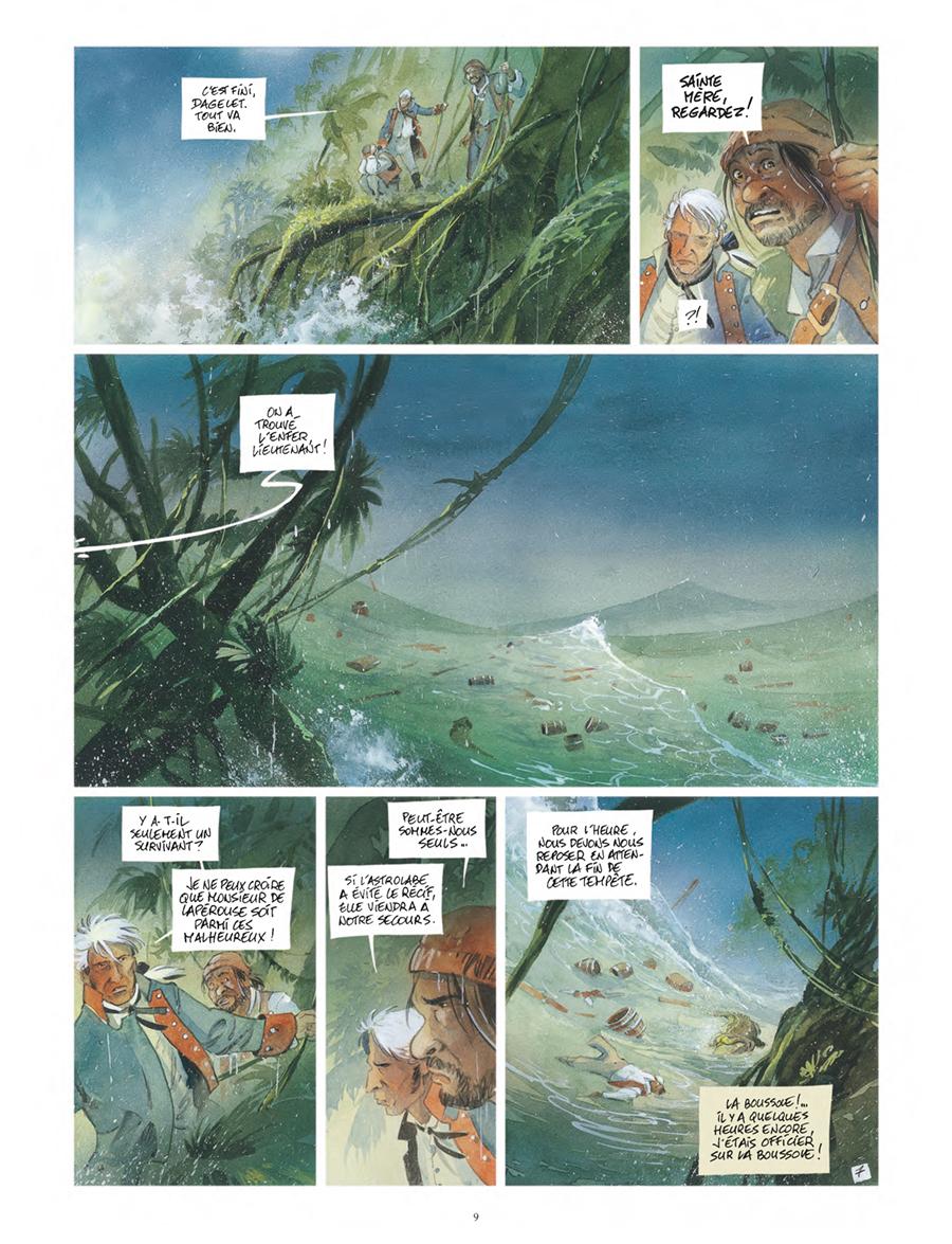 Extrait n°7 de la bd Vanikoro, le mystère Lapérouse  par Patrick Prugne