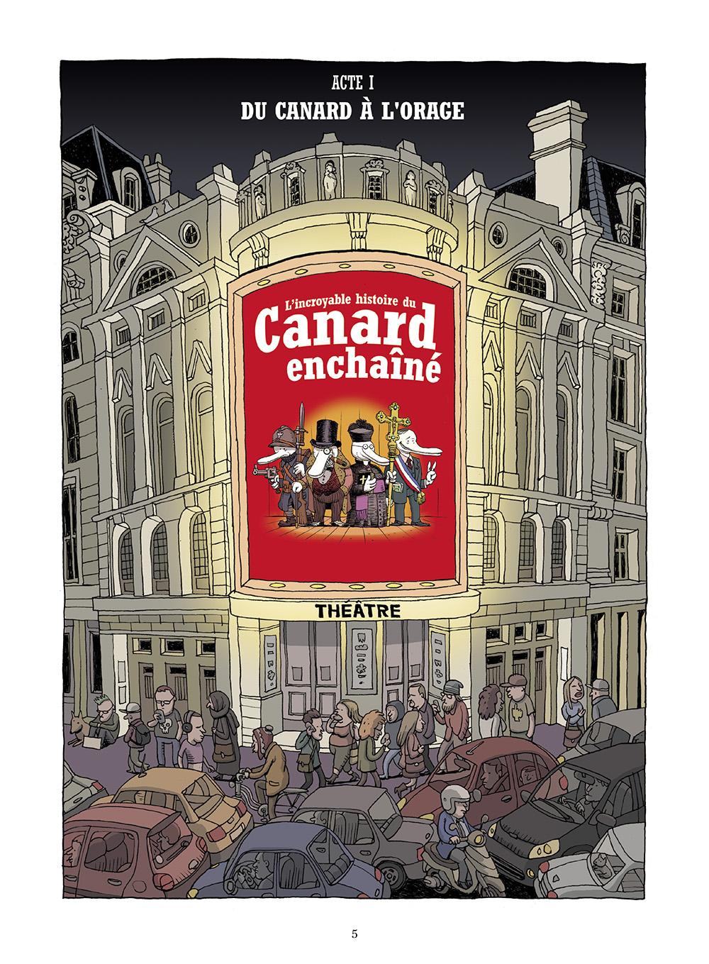 Extrait n°1 de la bd L'incroyable histoire du Canard enchaîné ( édition 2018 ) par Didier Convard