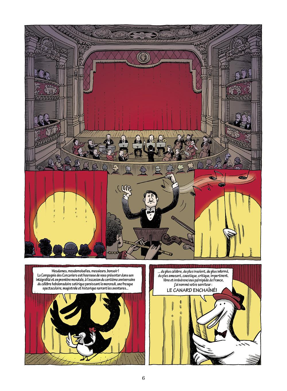 Extrait n°2 de la bd L'incroyable histoire du Canard enchaîné ( édition 2018 ) par Didier Convard