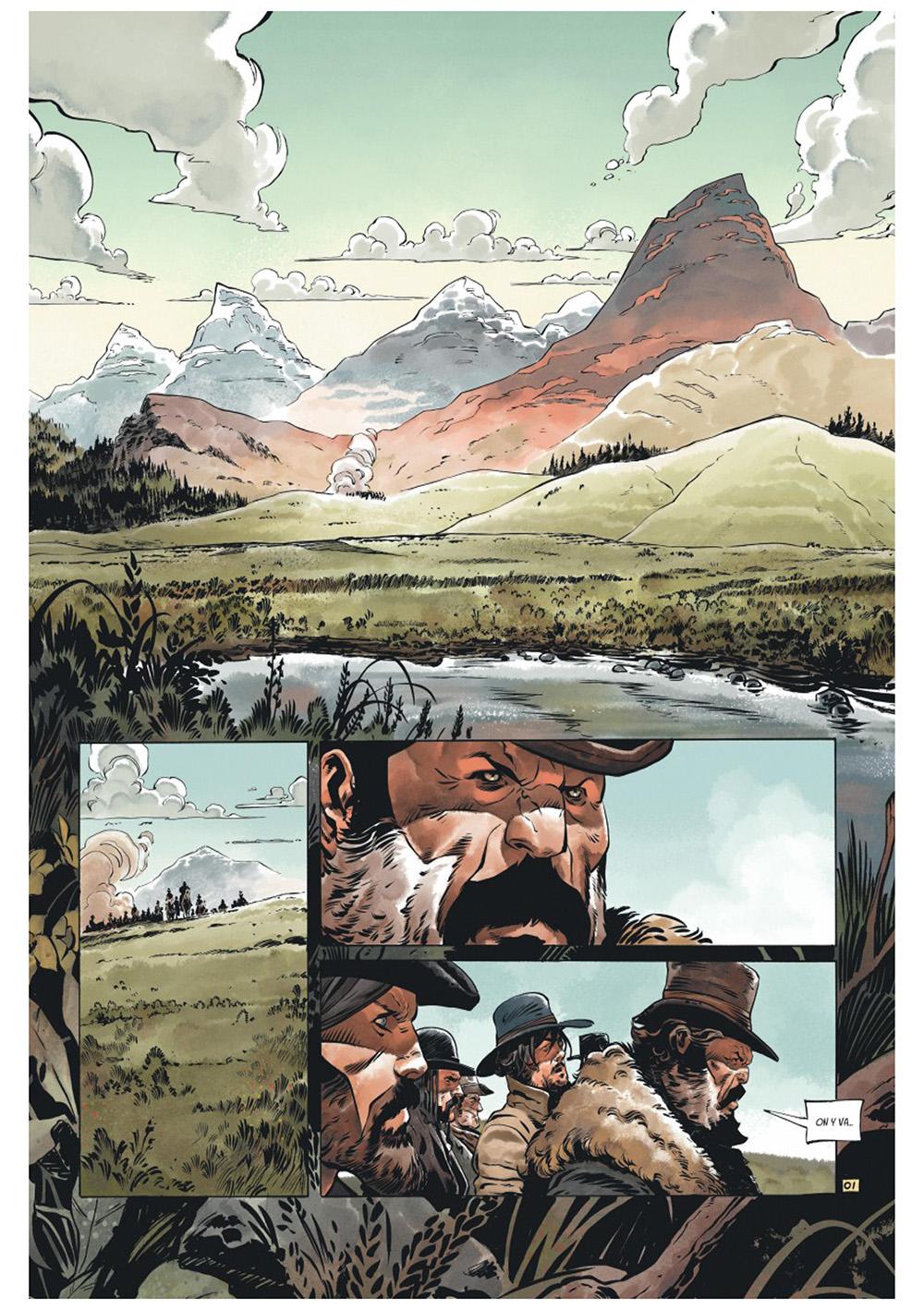 Extrait n°1 de la bd Texas Jack par Pierre Dubois