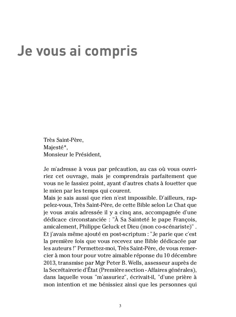 Extrait n°1 de la bd par Philippe Geluck