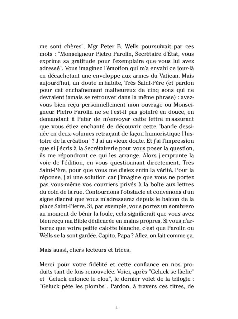 Extrait n°2 de la bd par Philippe Geluck
