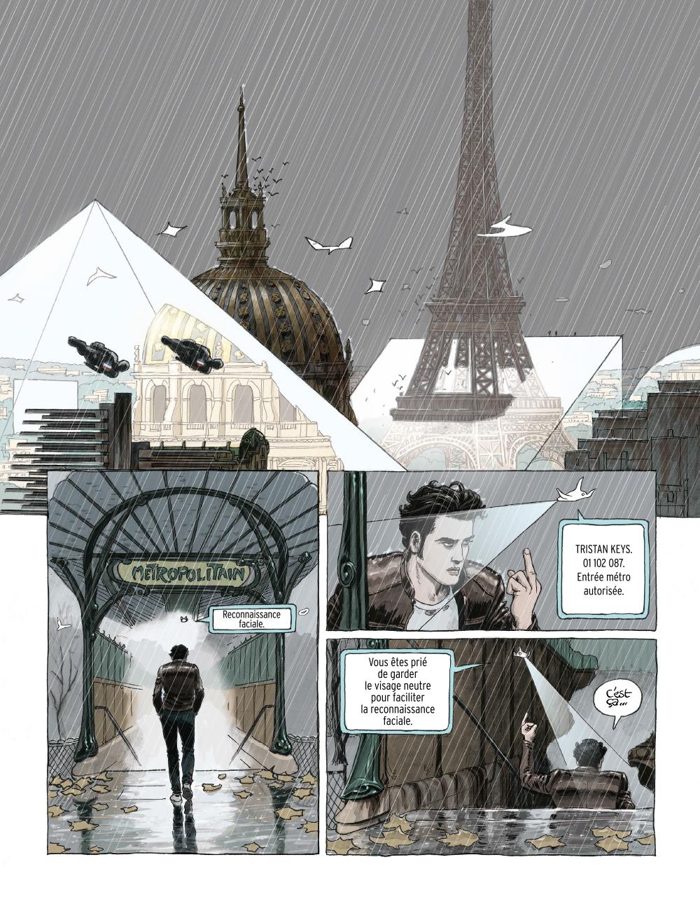 Extrait n°1 de la bd Paris 2119 par Zep