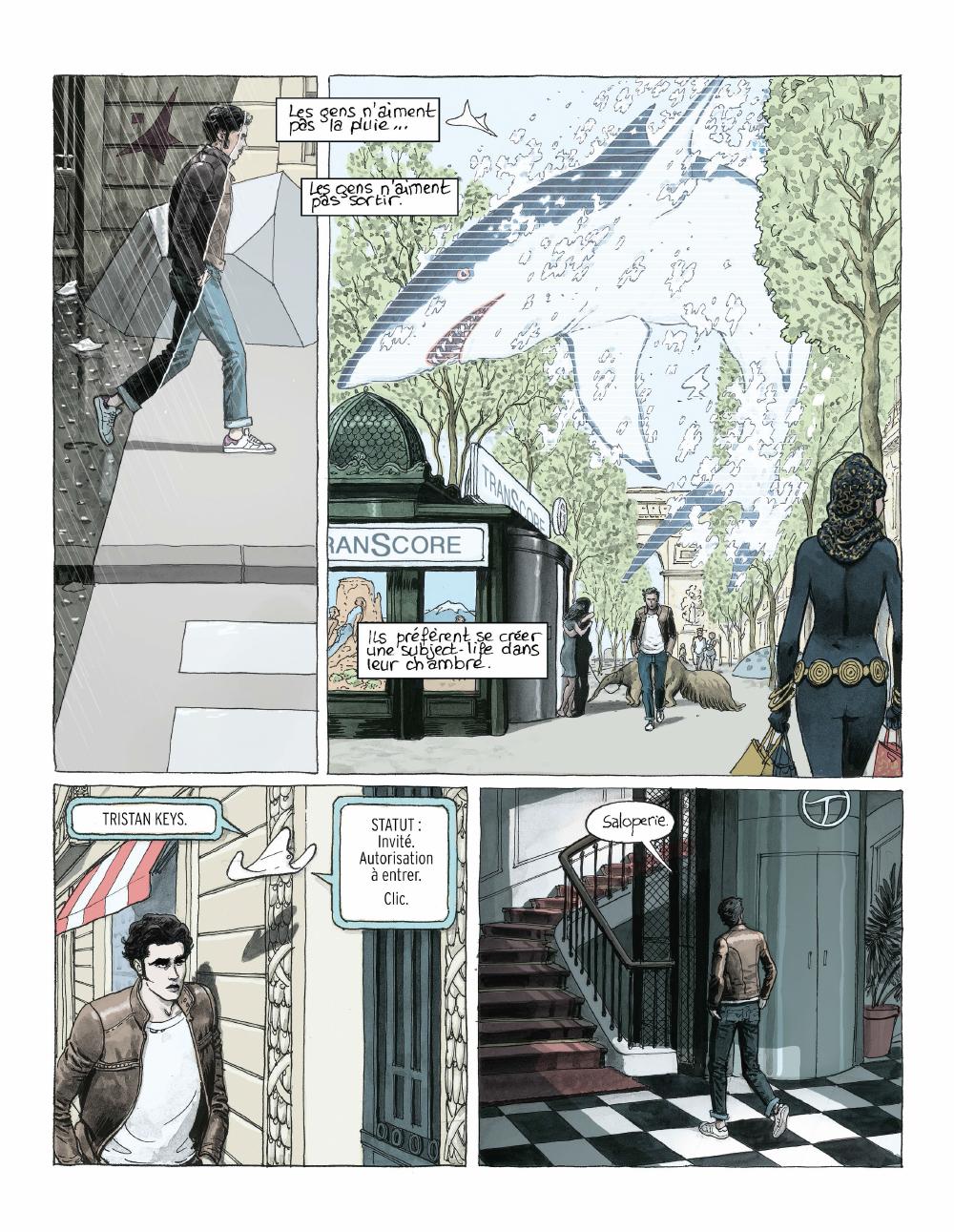Extrait n°5 de la bd Paris 2119 par Zep