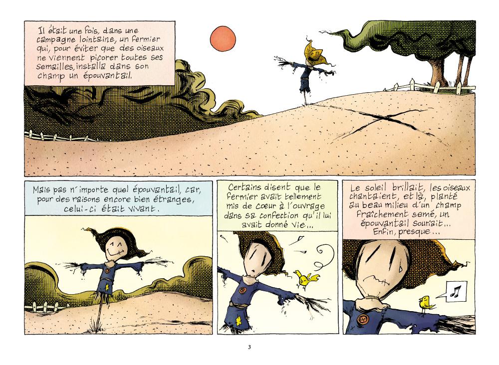 Extrait n°1 de la bd L'Emouvantail par Renaud Dillies