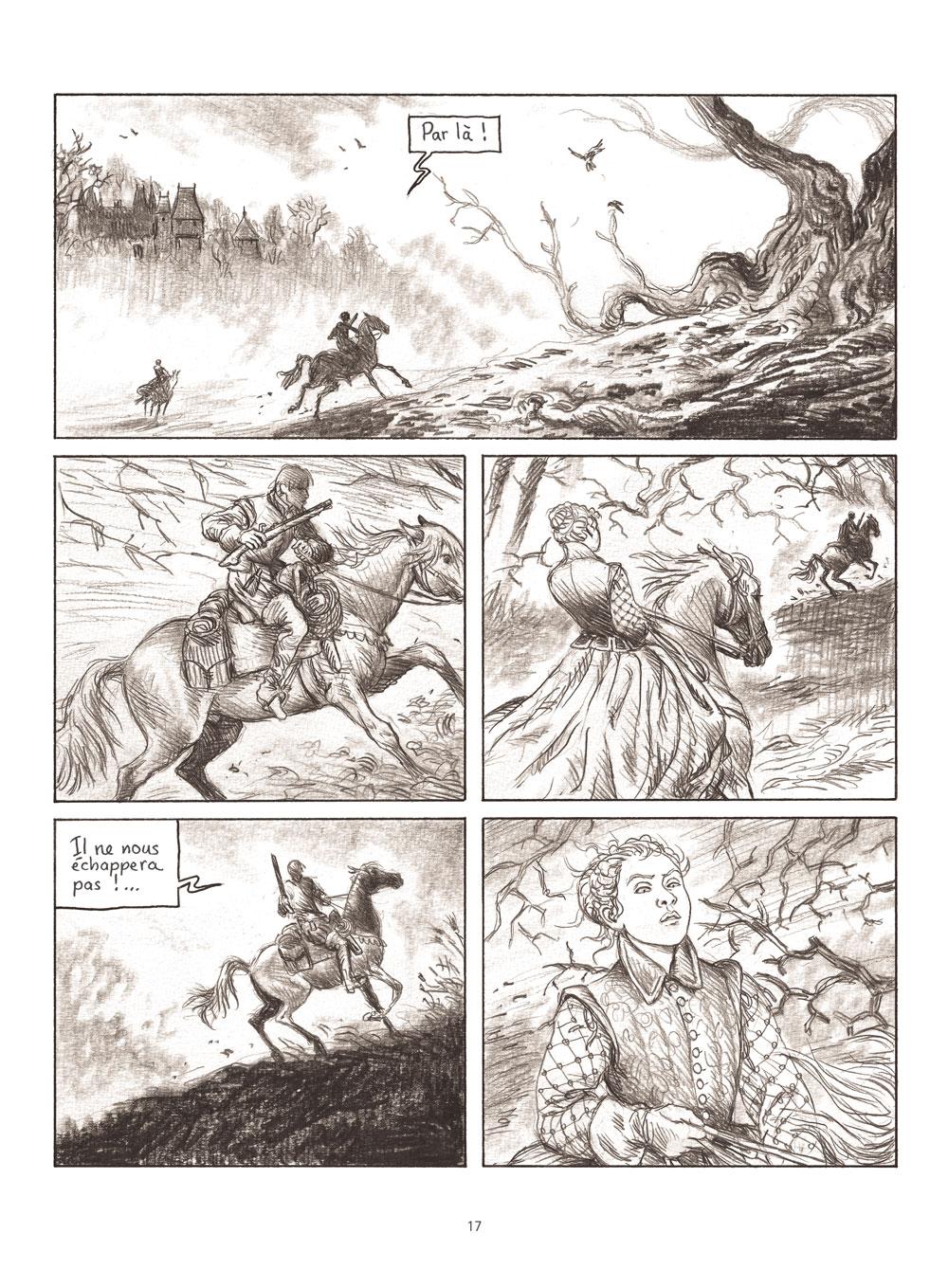 Extrait n°3 de la bd Milady ou Le mystère des Mousquetaires par Frédéric Bihel