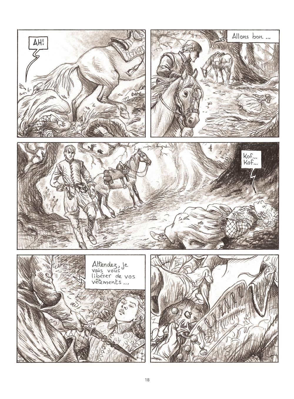 Extrait n°4 de la bd Milady ou Le mystère des Mousquetaires par Frédéric Bihel