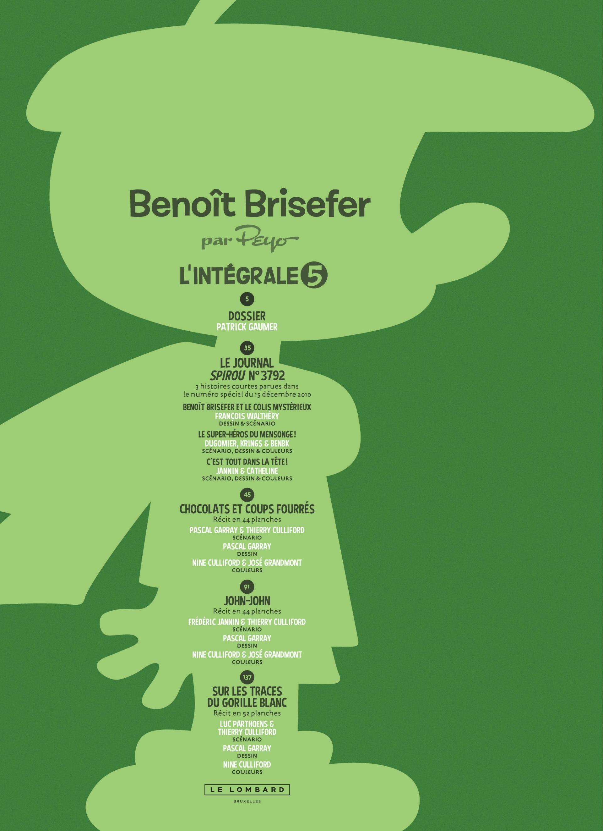 Intégrale Benoît Brisefer 5