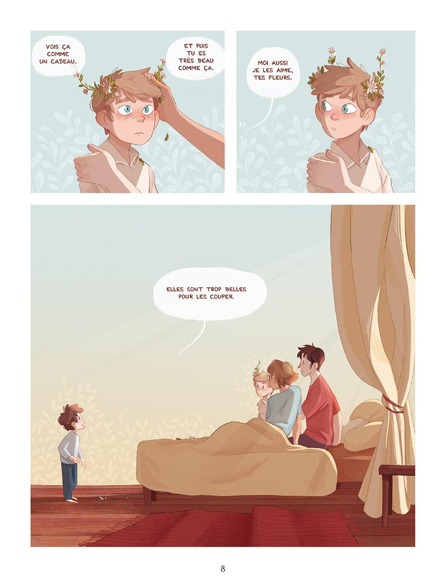 Extrait n°4 de la bd Les Fleurs de grand frère par Gaëlle Geniller