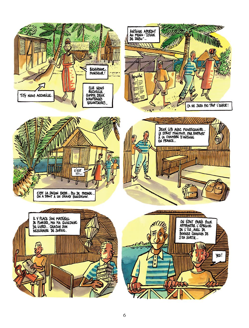 Extrait n°4 de la bd Robinsons, père et fils par Tronchet