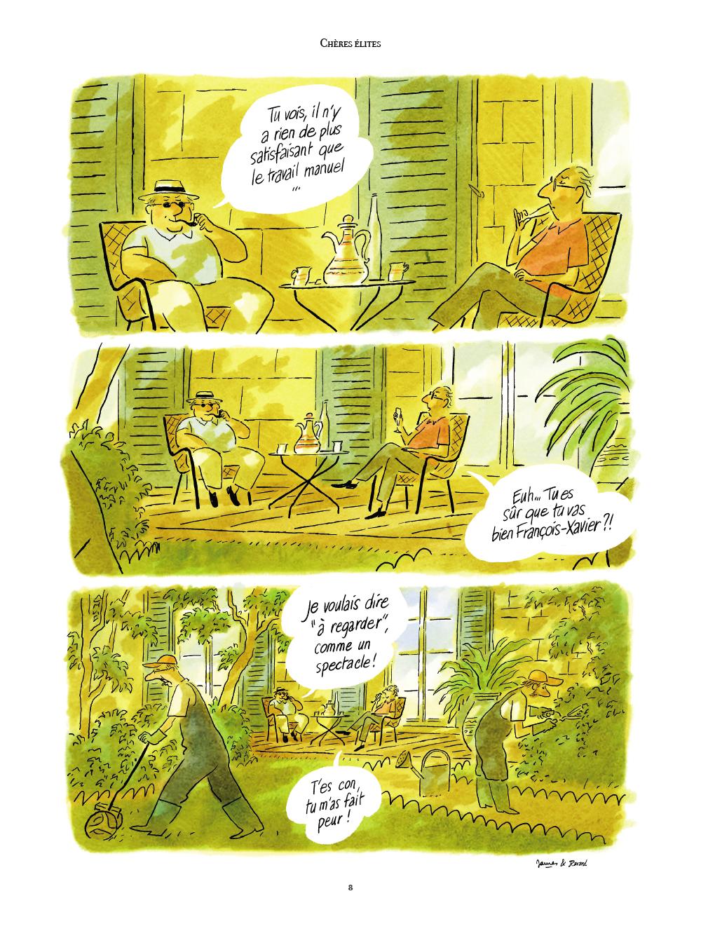 Extrait n°5 de la bd Chères Elites par James