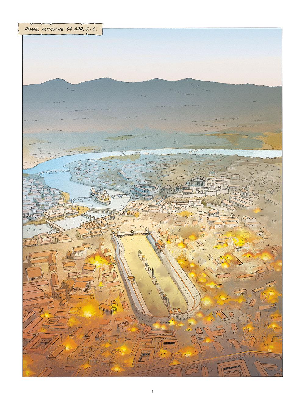 Extrait n°1 de la bd Saint Pierre, Une menace pour l'Empire romain par Pat Perna