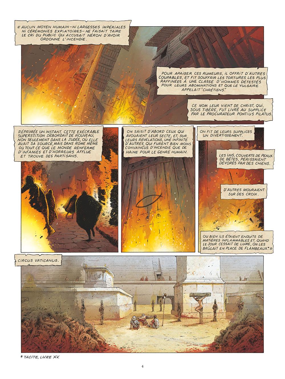 Extrait n°2 de la bd Saint Pierre, Une menace pour l'Empire romain par Pat Perna