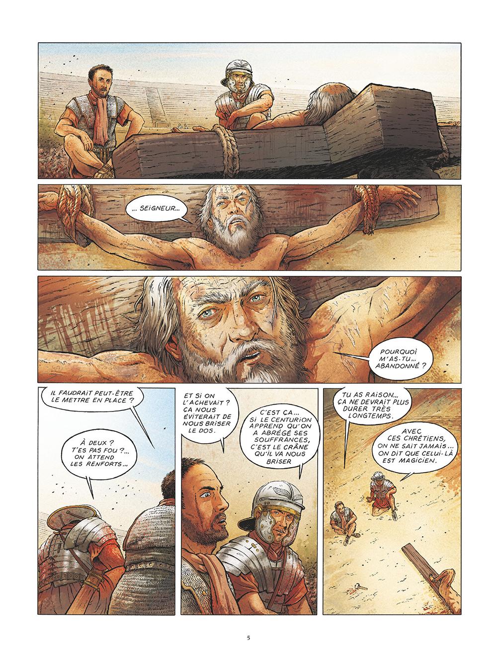 Extrait n°3 de la bd Saint Pierre, Une menace pour l'Empire romain par Pat Perna