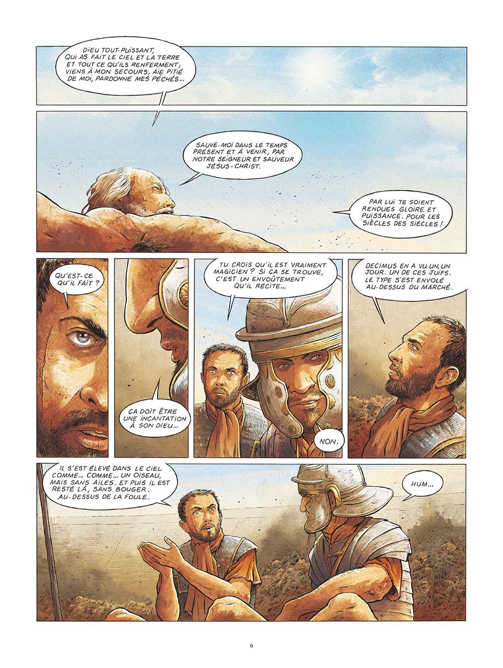 Extrait n°4 de la bd Saint Pierre, Une menace pour l'Empire romain par Pat Perna