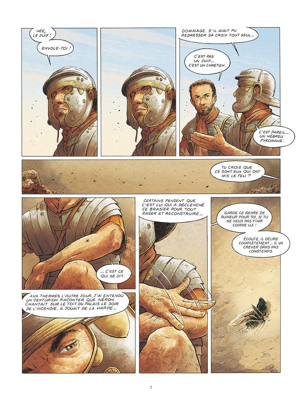 Extrait n°5 de la bd Saint Pierre, Une menace pour l'Empire romain par Pat Perna