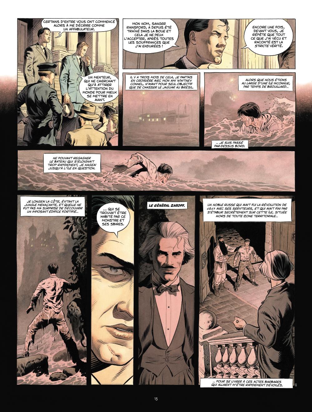 Extrait n°2 de la bd Zaroff par Sylvain Runberg