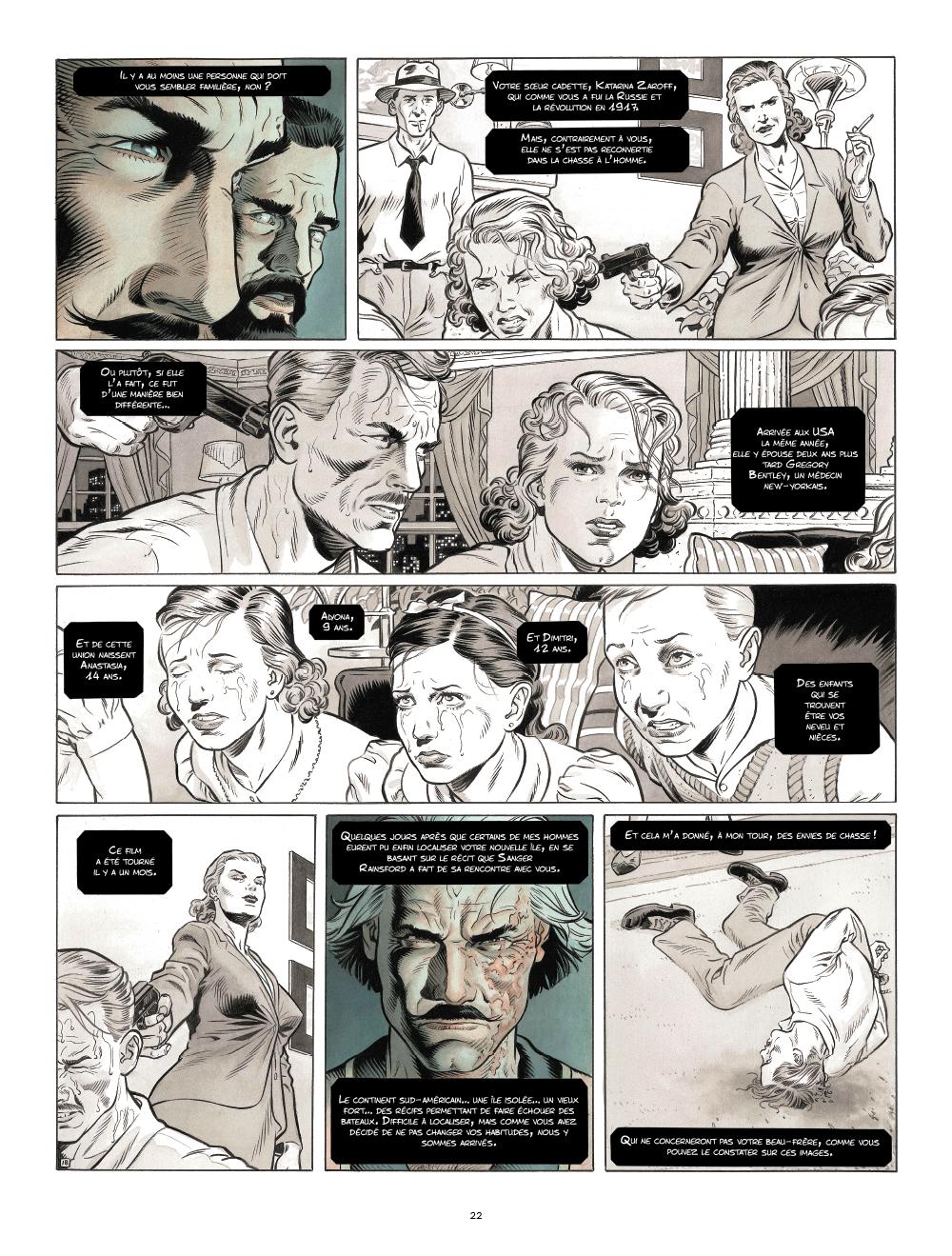 Extrait n°11 de la bd Zaroff par Sylvain Runberg