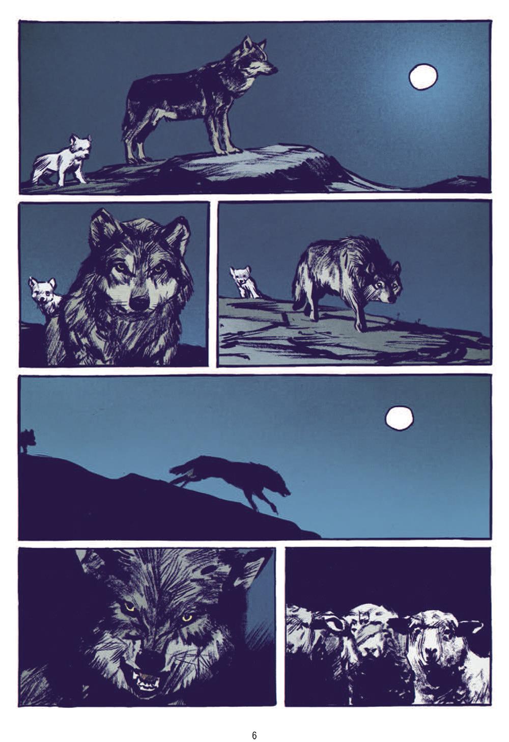 Extrait n°2 de la bd Le Loup par Jean-Marc Rochette