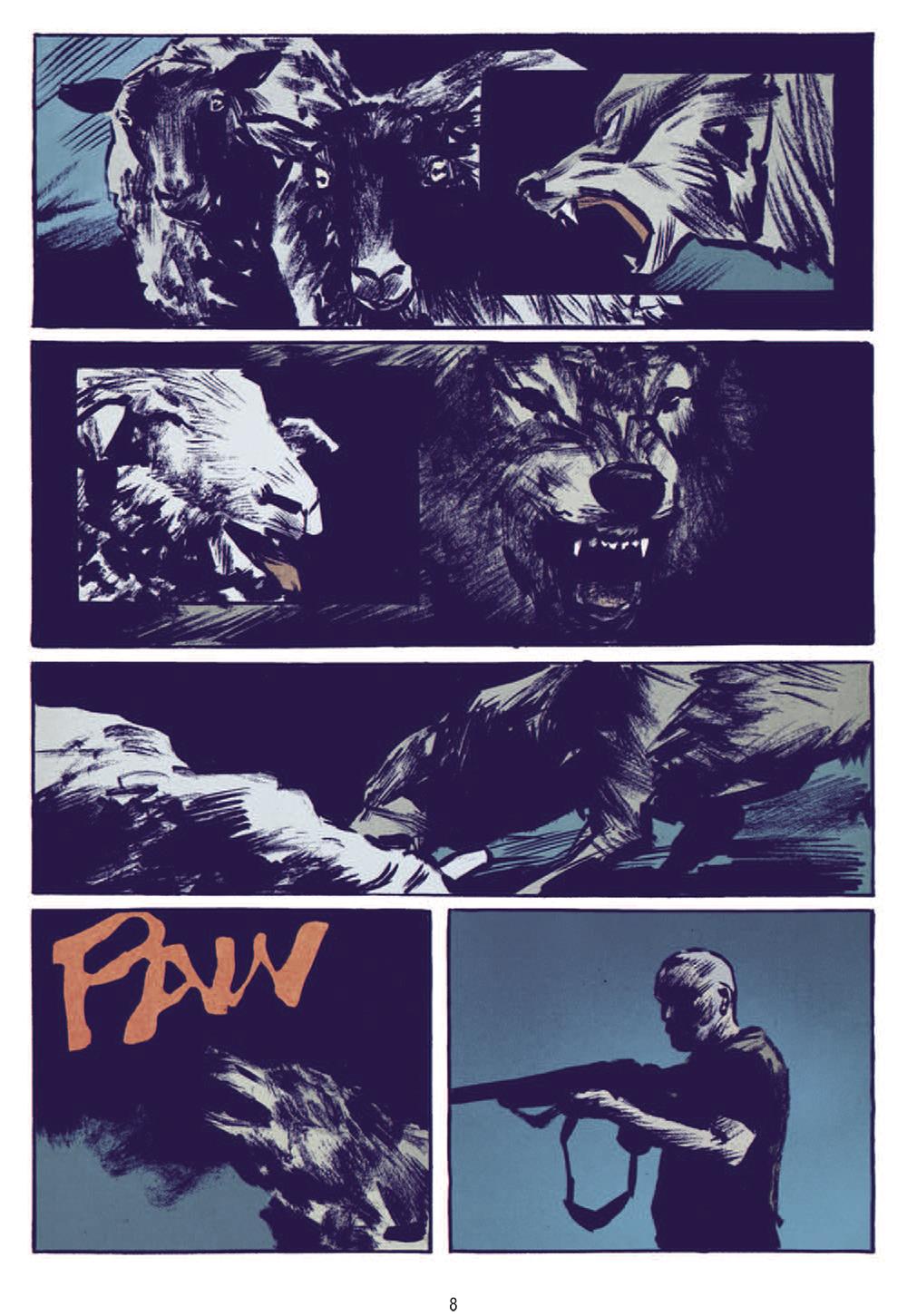 Extrait n°4 de la bd Le Loup par Jean-Marc Rochette