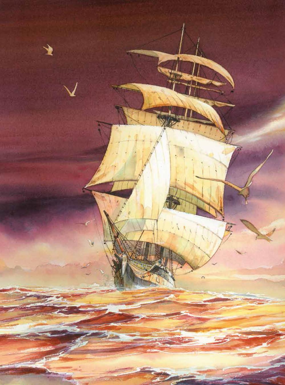Extrait n°1 de la bd Les Voyages de Jules par René Follet