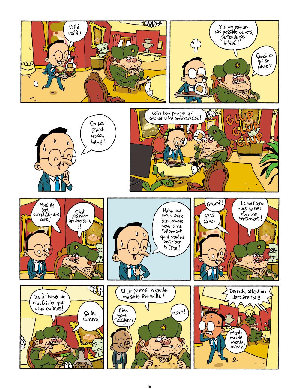 Extrait n°4 de la bd Cher Dictateur par Caloucalou