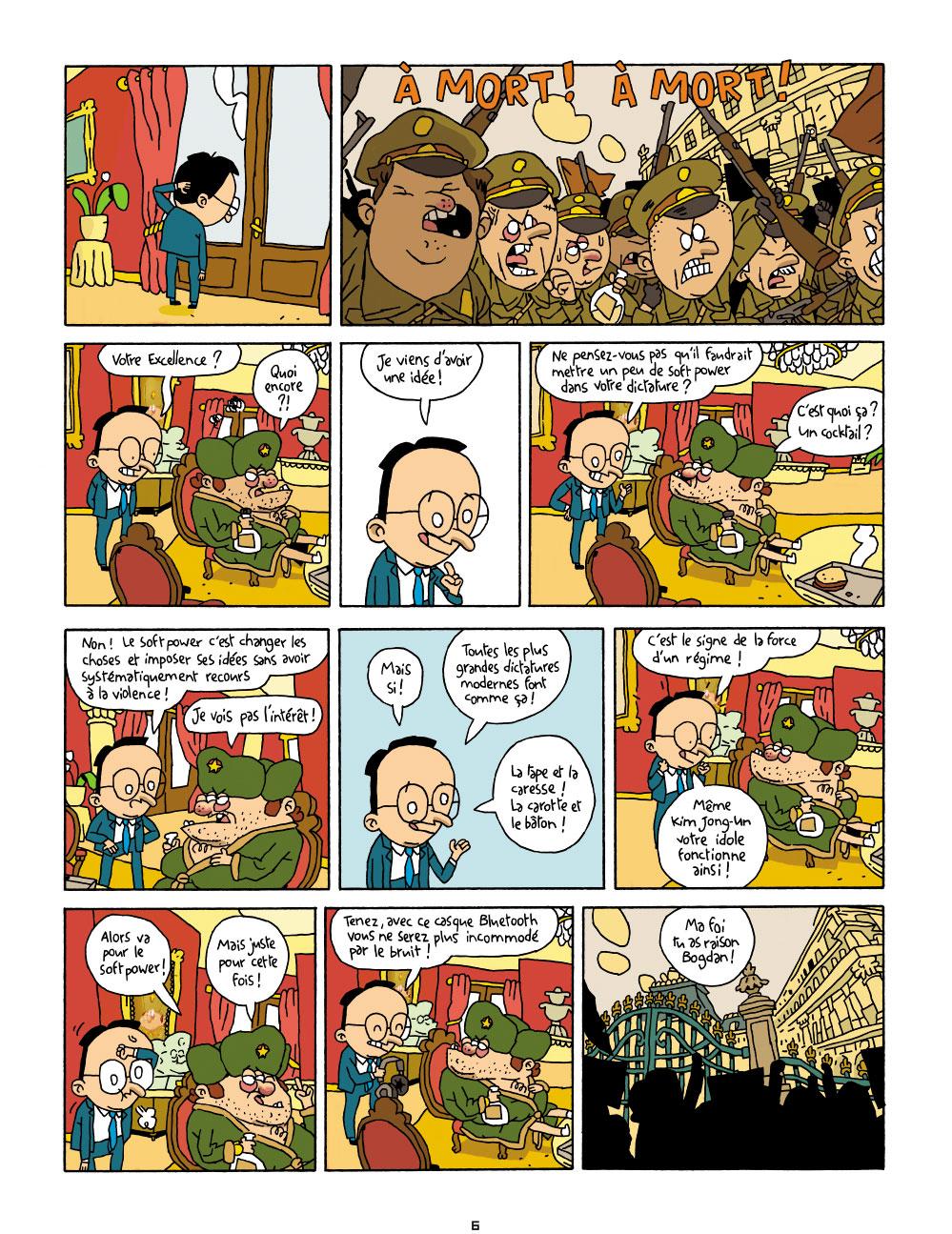 Extrait n°5 de la bd Cher Dictateur par Caloucalou