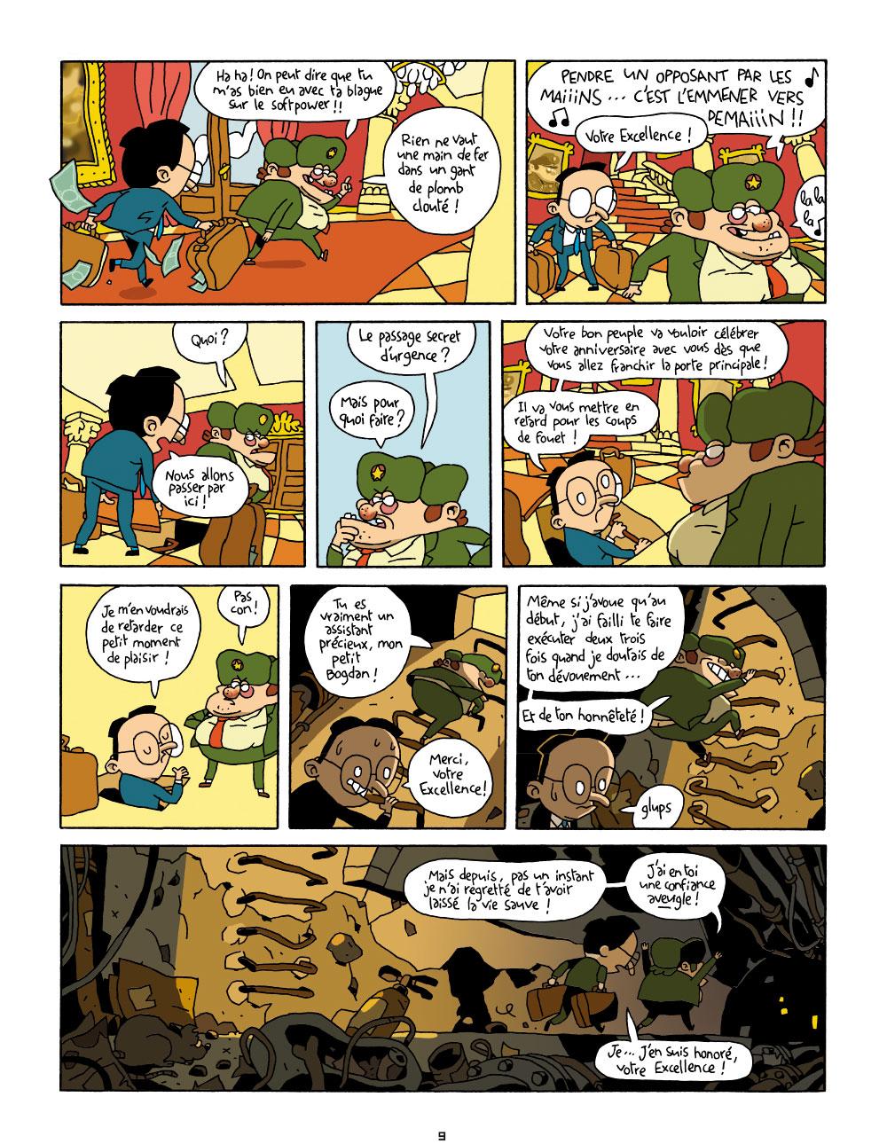 Extrait n°8 de la bd Cher Dictateur par Caloucalou