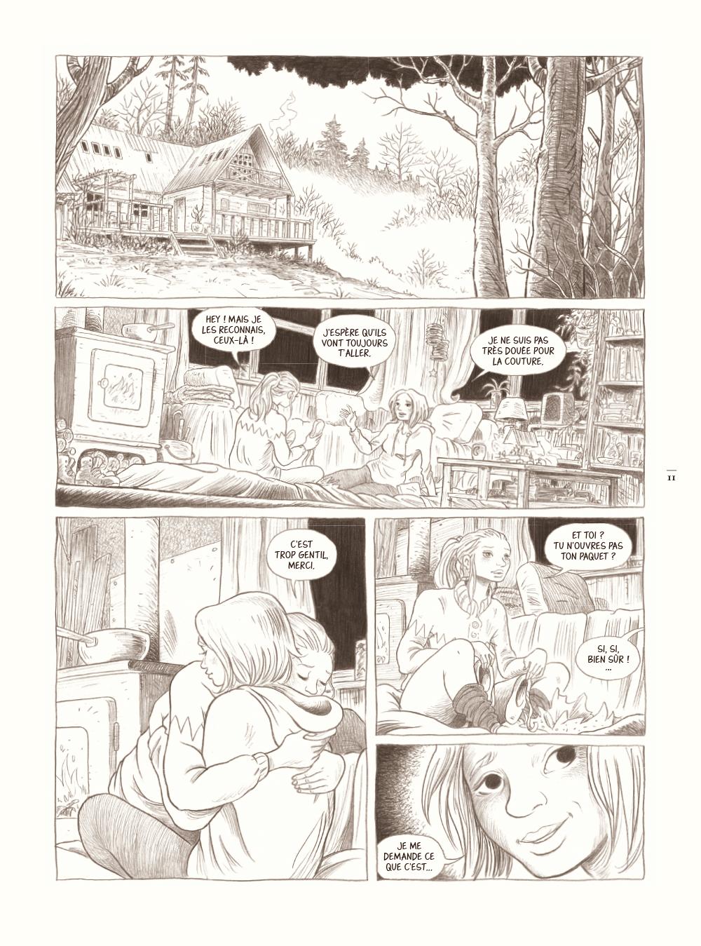 Extrait n°1 de la bd Dans la forêt par Lömig
