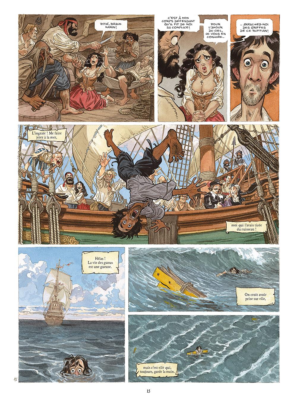 Extrait n°3 de la bd Les Indes Fourbes par Alain Ayroles